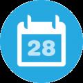 Calendar dates icon